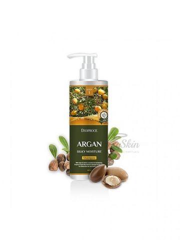Шампунь для волос с аргановым маслом DEOPROCE SHAMPOO ARGAN SILKY MOISTURE