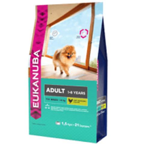Eukanuba Dog Adult Toy Breed Сухой корм для взрослых собак миниатюрных пород