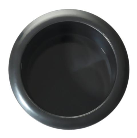 Подставка для свечей круглая черная