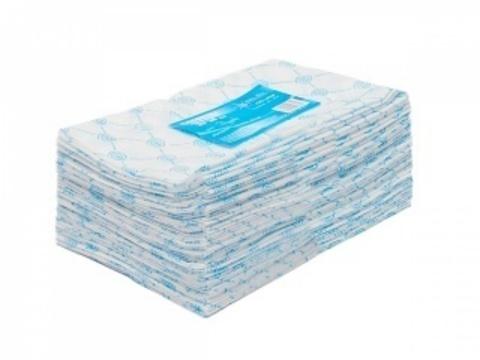 Салфетка одноразовая 30*30, спанлейс 40,пачка 100шт голубой