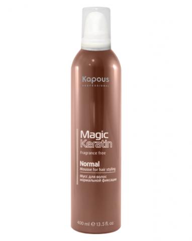 Мусс для укладки волос нормальной фиксации с кератином, 400 мл
