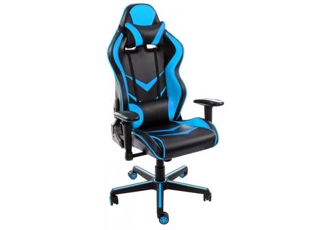 Офисное кресло для персонала и руководителя Компьютерное Racer черное / голубое 70*70*120 Черный / голубой