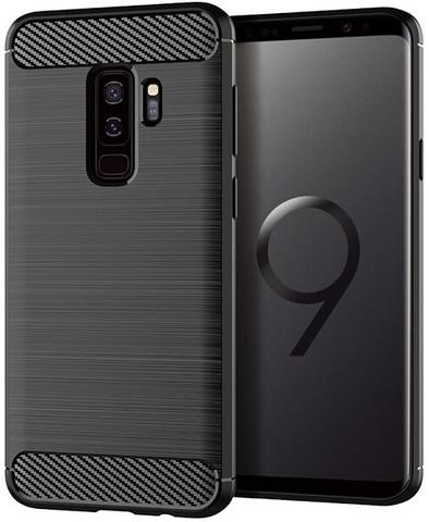 Чехол для Samsung Galaxy S9 Plus цвет Black (черный), серия Carbon от Caseport