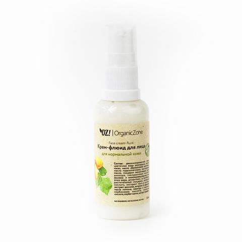 Крем-флюид для лица для нормальной кожи | 50 мл | Organic Zone