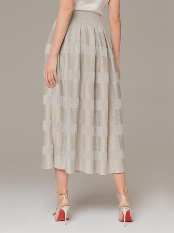 Женская юбка серого цвета из вискозы - фото 4