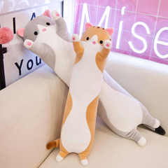 Подушка кот серый 90 см