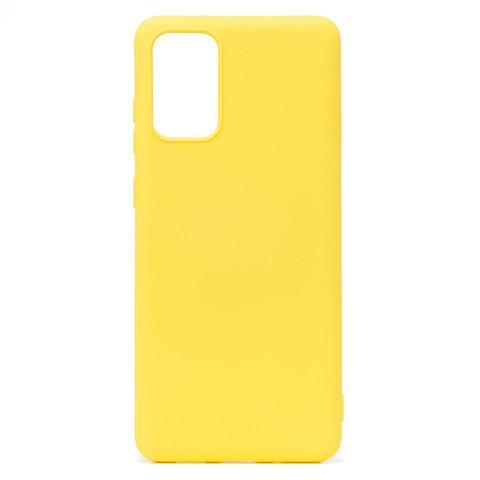 Чехол для Samsung (G985) Galaxy S20+ Софт тач мягкий эффект | микрофибра желтый