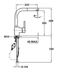 Смеситель TEKA ARK 938 Хром - схема