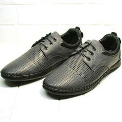 Мужские летние туфли мокасины Ridge Z-430 75-80Gray