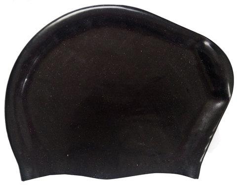 Шапочка для плавания силиконовая Dobest для длинных волос KW20 (черный),