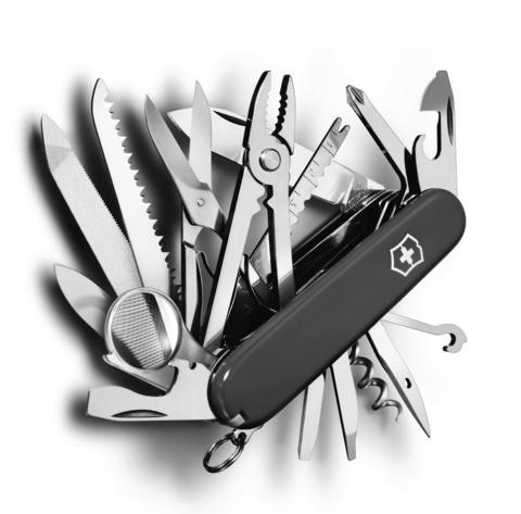 Нож Victorinox SwissChamp, 91 мм, 33 функции, черный