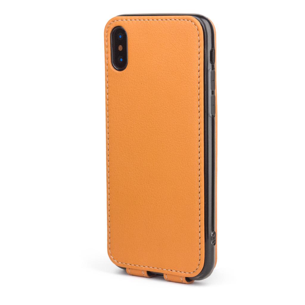 Чехол для iPhone X/XS из натуральной кожи теленка, цвета охры