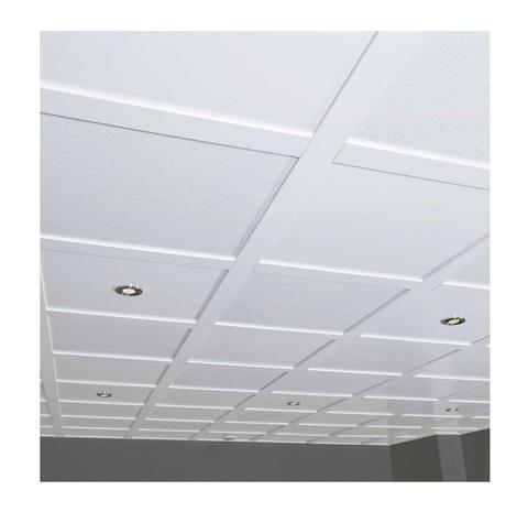 Акустическая полиэфирная панель потолочная Echoton Polyster (595x595x9 mm) - 8 шт