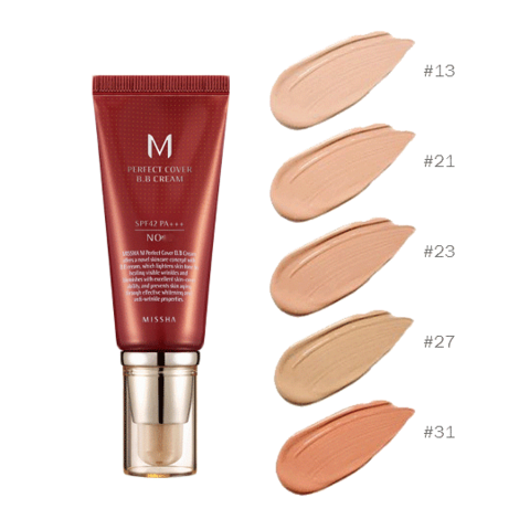 Missha ВВ-крем Perfect Cover BB Cream SPF 42/PA+++  No.21 Light Beige, 50 мл