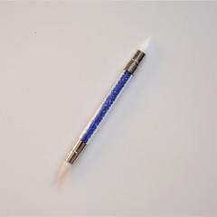 Кисть силиконовая двухсторонняя (цвет в ассортименте)