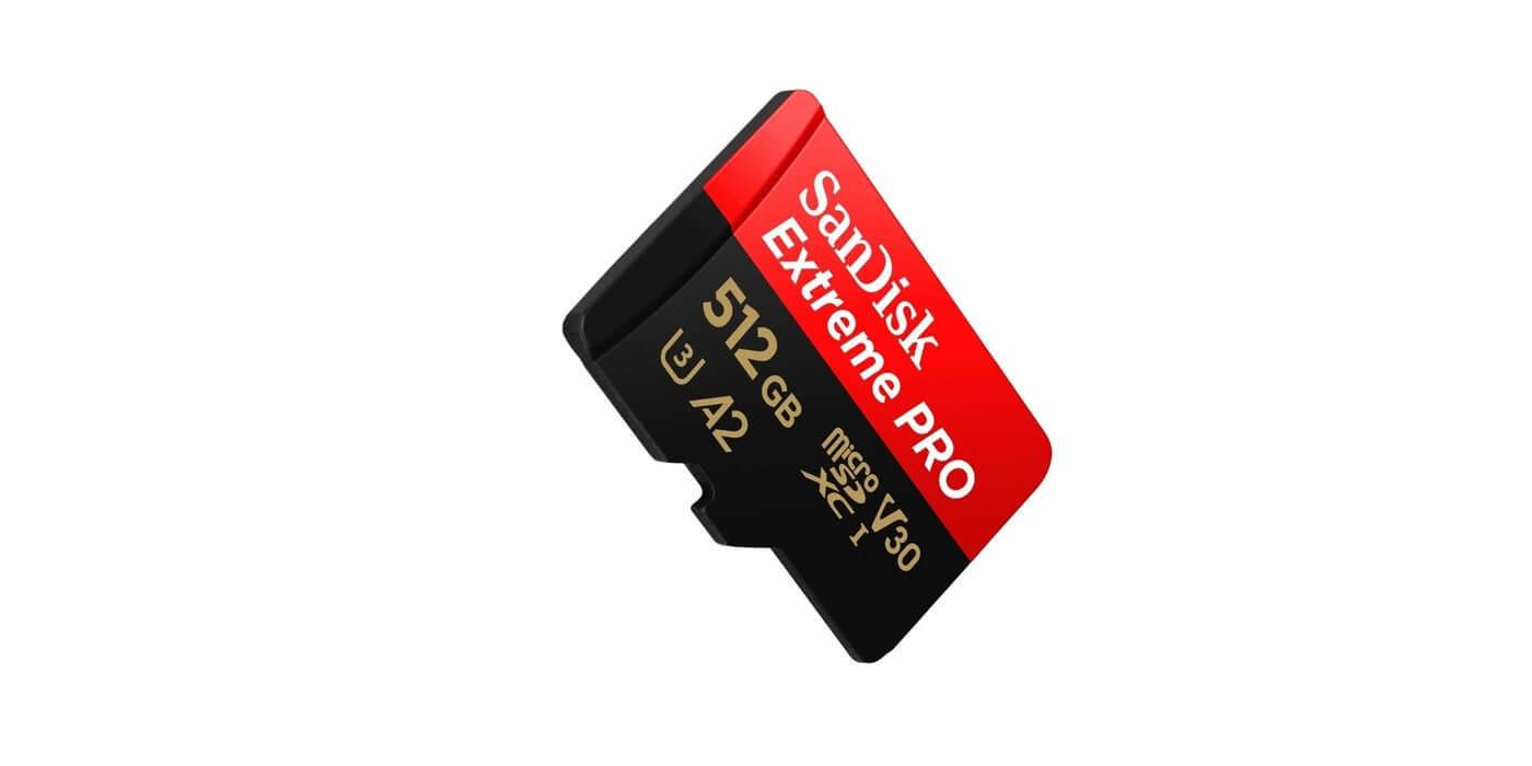 Карта памяти microSDXC 512GB SanDisk Class 10 UHS-I A2 C10 V30 U3 Extreme Pro (SD адаптер) 170MB/s