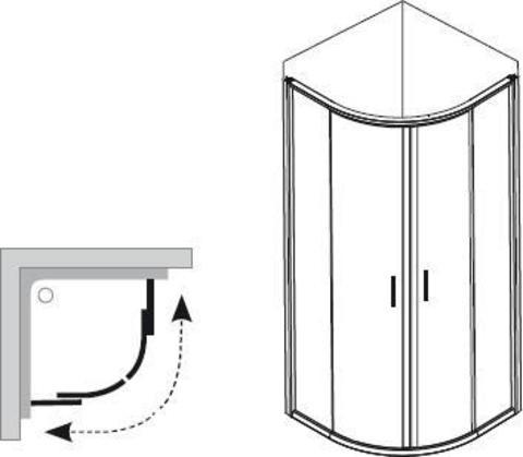 Душевой уголок Ravak Blix BLCP4-90 белый + транспарент AntiCalc 3B270100Z1 схема