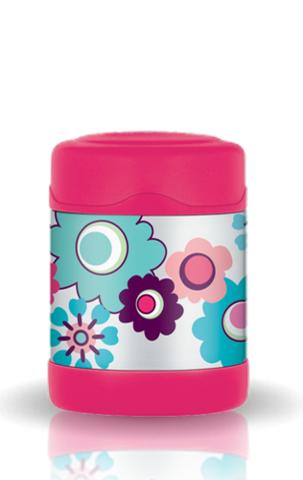 Термос детский для еды Thermos Funtainer Flower (0,29 литра), розовый