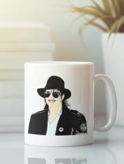 Кружка с изображением Майкла  Джексона (Michael Jackson) белая 006