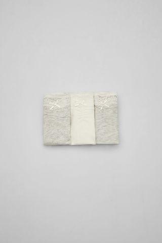 Набір з 3 класичних трусиків сірого кольору
