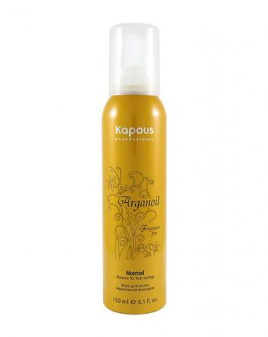 Мусс для укладки волос нормальной фиксации с маслом арганы, 400 мл