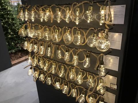Гирлянда ретро на бечевке с круглыми рифлеными лампочками Luca Lighting теплый белый свет (10 ламп, длина гирлянды 315 см)