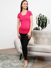 Мамаландия. Футболка для беременных и кормящих на запах, фуксия