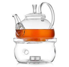 """Заварочный чайник из стекла """"Георгин"""" с подставкой для подогрева от свечи """"Тама"""""""