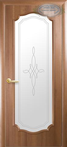 Дверь Рокка ДО (золотая ольха, остекленная ПВХ), фабрика Новый Стиль