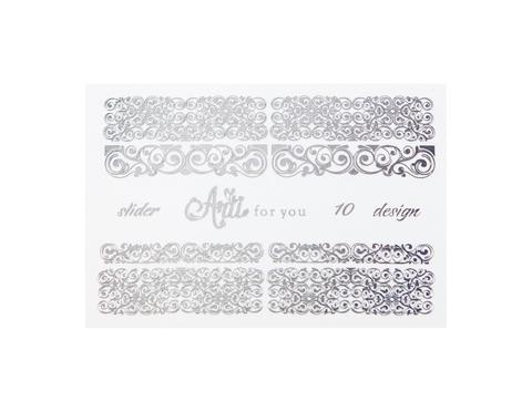 Фольга для дизайна ногтей цвет серебро 10 купить за 120руб