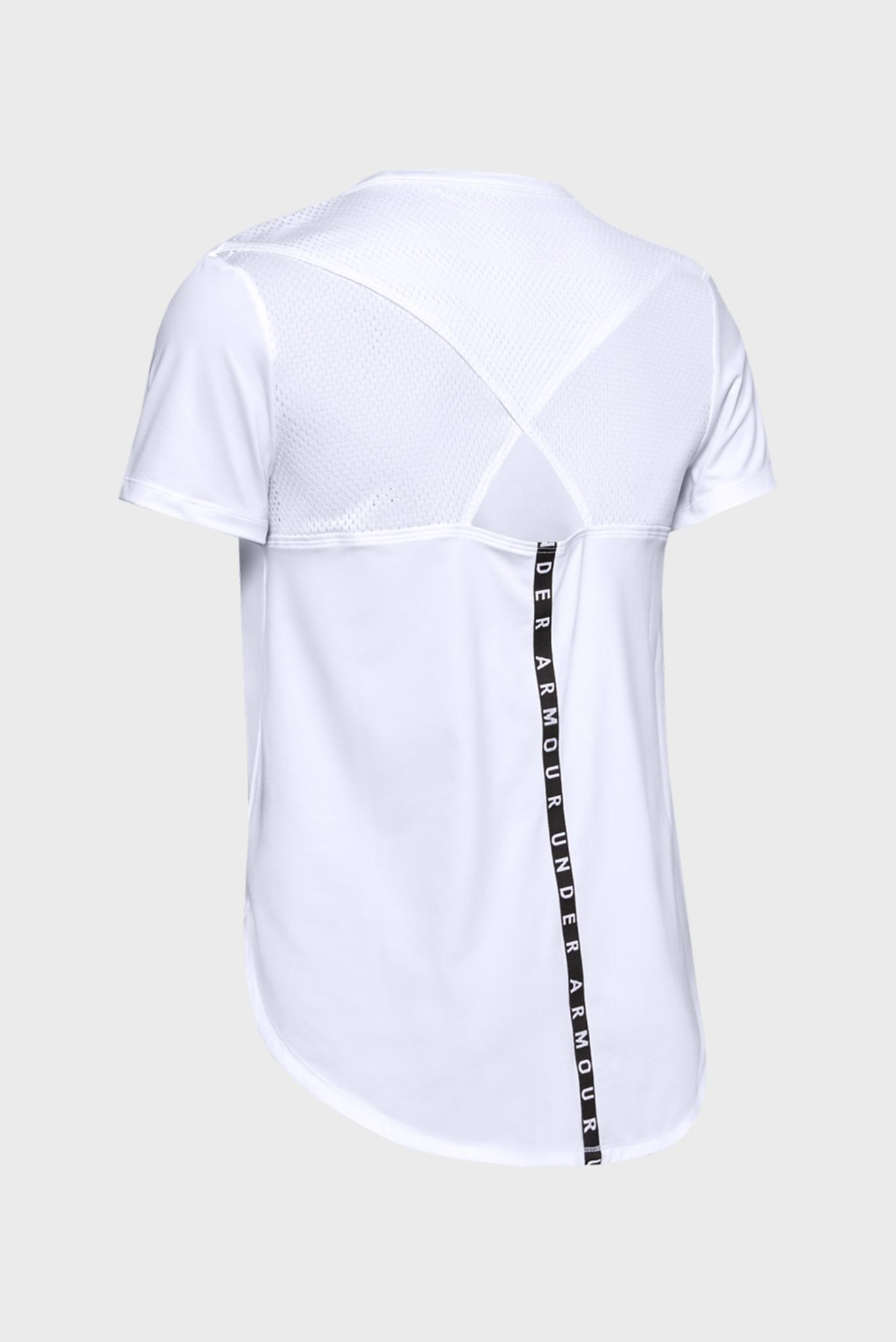 Женская белая футболка UA Armour Sport Crossback SS Under Armour