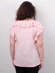 Руна. Нежная блуза большого размера. Персик.