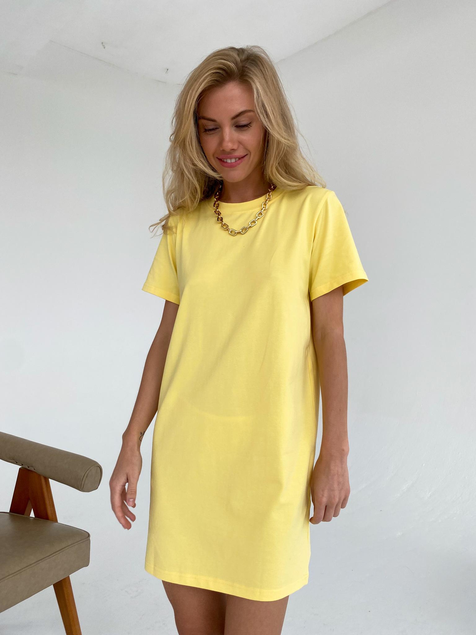 Платье-футболка (лимонный)