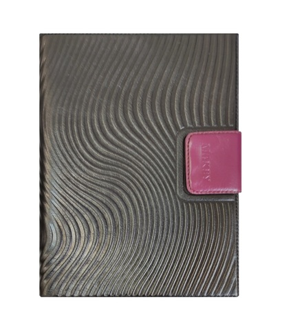 Ежедневник А5 «Waves». Цвет черный-фуксия