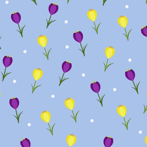 Милая ткань с тюльпанами