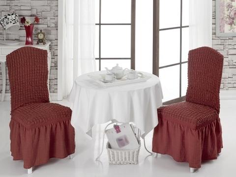 Чехлы на стулья (2 шт) цвет кирпичный