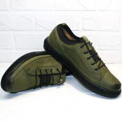 Спортивные туфли кроссовки хаки мужские Luciano Bellini C2801 Nb Khaki.