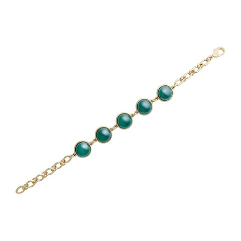 Классический браслет Pearl Green Agate C1362.17 G/G