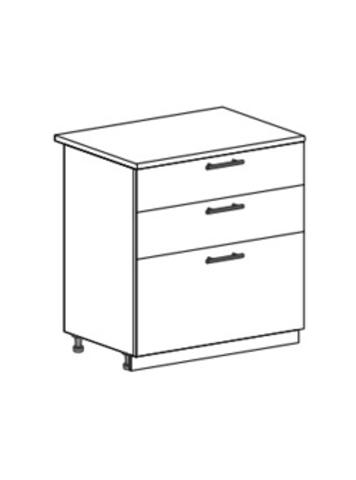 Шкаф нижний с 3 ящиками