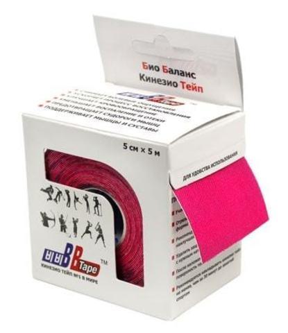 BBtape кинезио тейп 5см х 5м (розовый)
