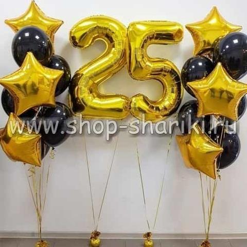 Композиция из шаров 25 лет