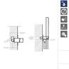 Встраиваемый смеситель для душа с душевым комплектом KUATRO K4718011 на 1 выход - фото №2