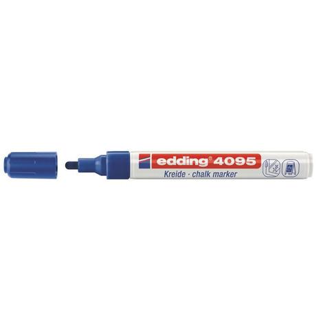 Маркер меловой Edding E-4095 синий 3 мм