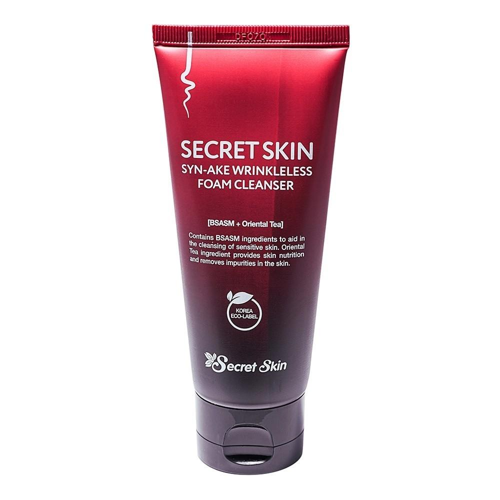 Пенки для умывания Пенка для лица Secret Skin антивозрастная SYN-AKE WRINKLELESS FOAM CLEANSER 100мл 6d8b503644b1ea7b842ee71172275157.jpg