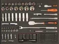 Тележка инструментальная для автосервиса с 216 предметами, 7 ящ,BAHCO