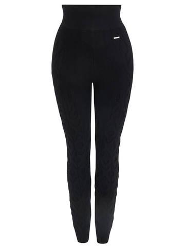Женские брюки черного цвета из 100% кашемира - фото 1