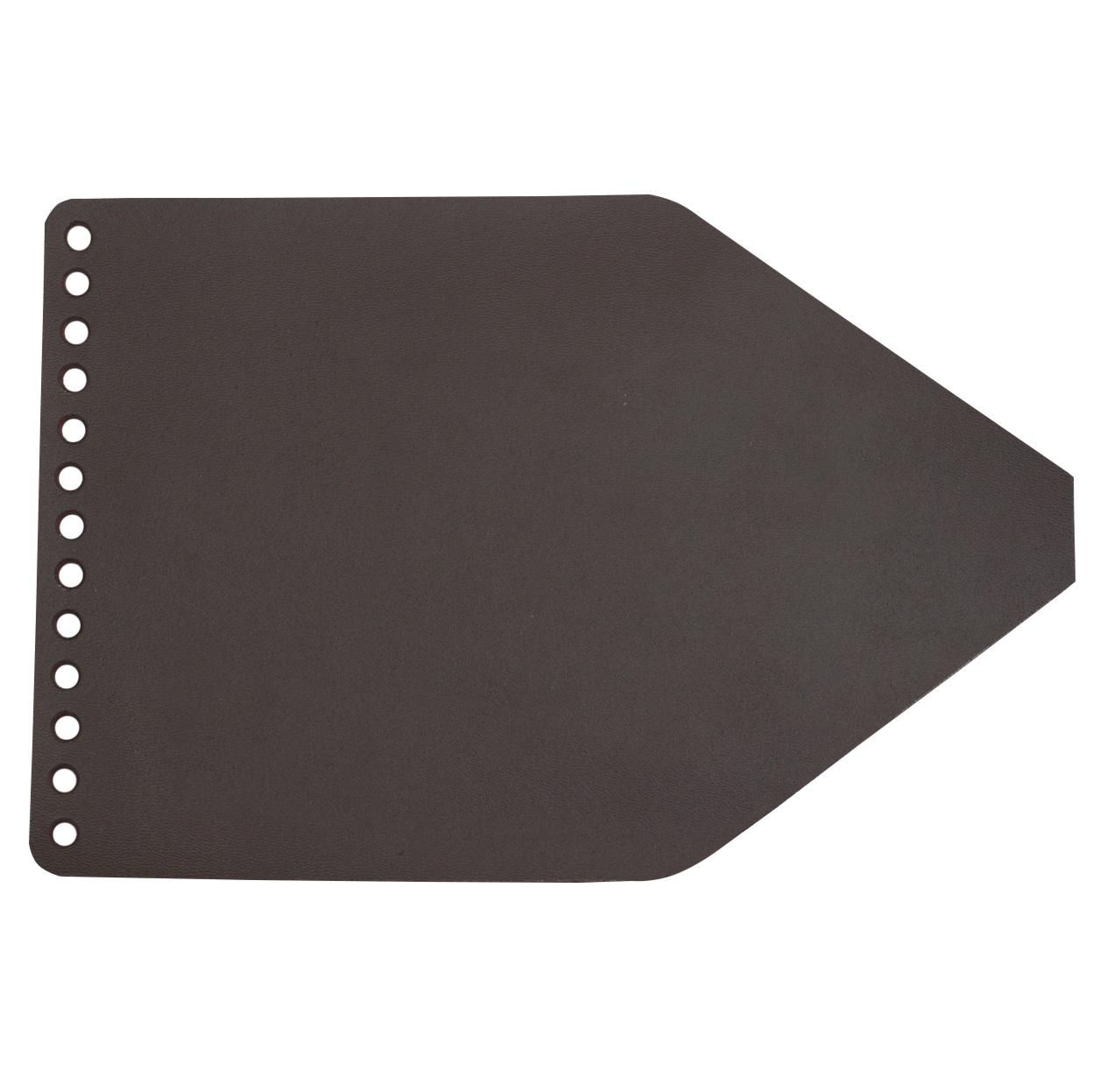Кожаная фурнитура Клапан для рюкзачка кожаный темно-коричневый 2,5 мм IMG_9327.jpg