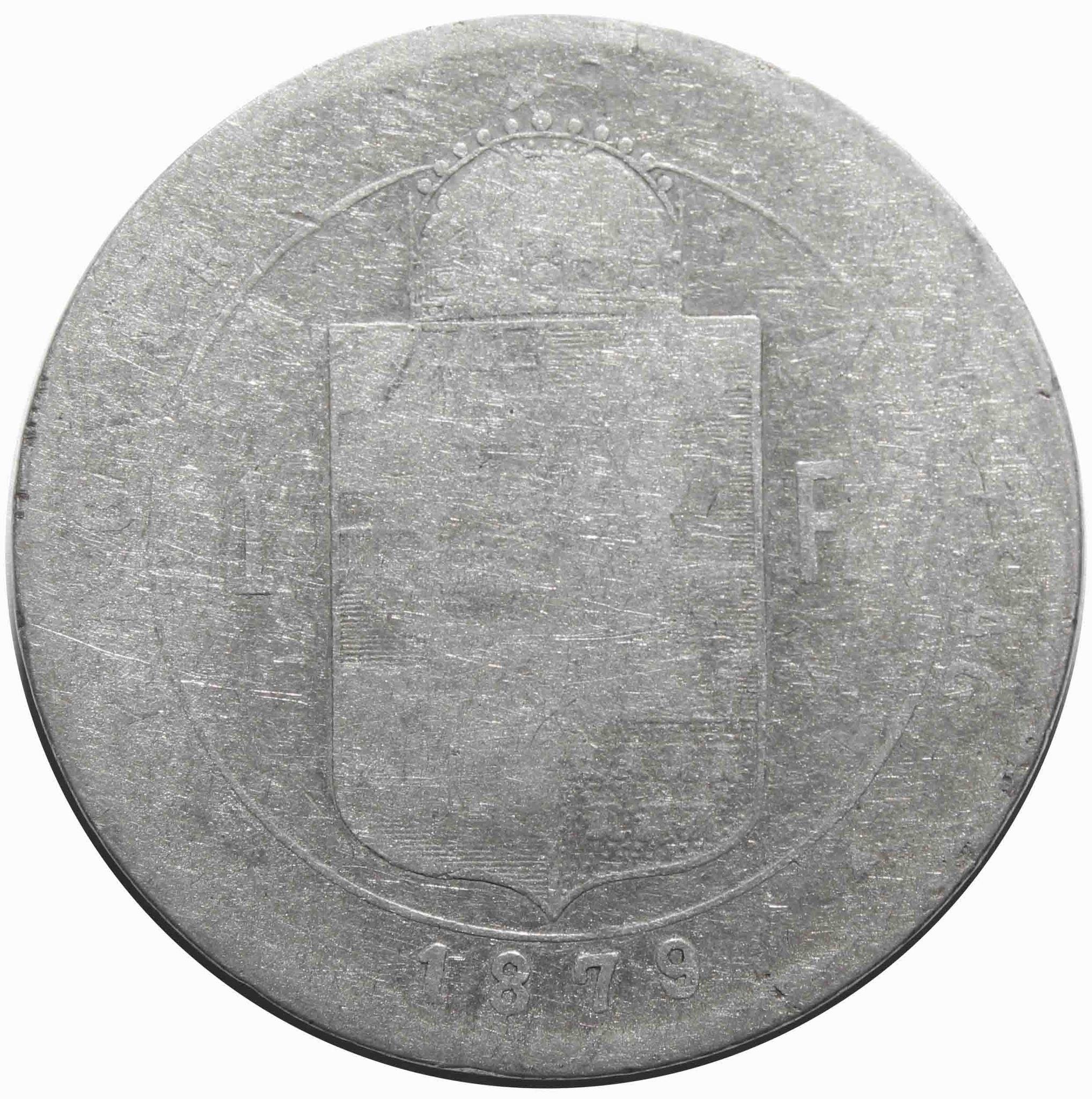 1 форинт 1879 год, Венгрия. VG