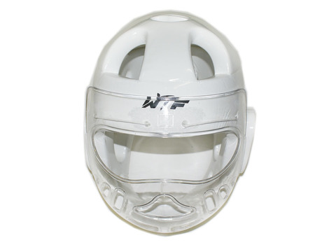 Шлем для тхеквондо с маской. Цвет: белый. Размер L. ZTT-001L-Б