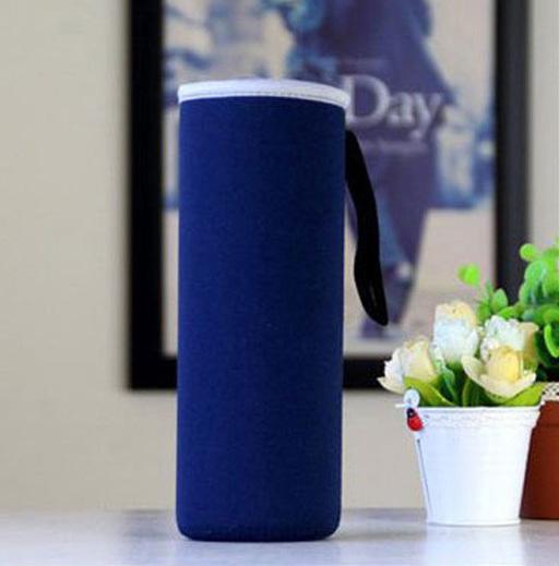 Чехол для бутылки из неопрена 19 см. синий